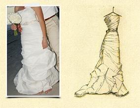 Dreamlines Wedding Dress Sketch Sample 2