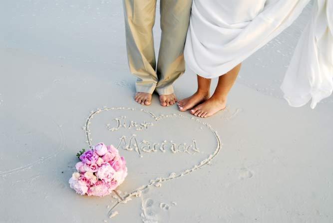 Beach Honeymoon Couple