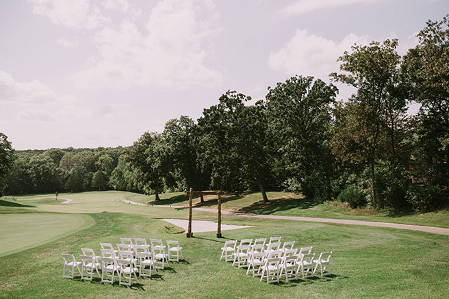wedding on the golf course