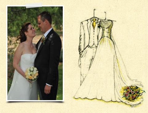 Dreamlines Wedding Dress Sketch Sample 1