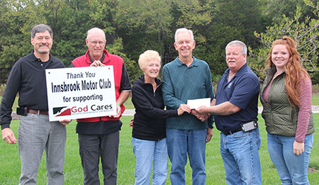 Innsbrook Car Show, God Cares Check Presentation